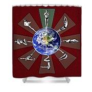 Bikram Yoga Shower Curtain