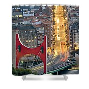 Bilbao Street Shower Curtain