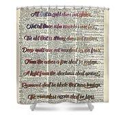 Bilbo Baggins Quote Vintage Art Shower Curtain