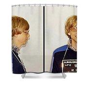 Bill Gates Post Impressionist Mugshot Shower Curtain