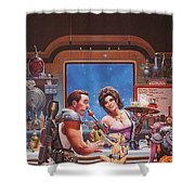 Bill The Galactic Hero Keith Parkinson Shower Curtain