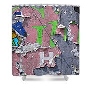 Billboard Abstract Butterfly Shower Curtain