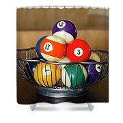 Billiard Balls Shower Curtain