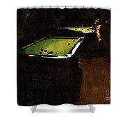 Billiards Ballet Shower Curtain