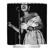 Billie Holiday Shower Curtain by American School