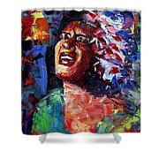 Billie Holiday Live Shower Curtain