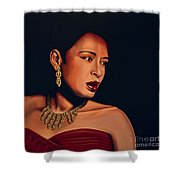 Billie Holiday Shower Curtain