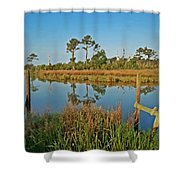 Billiys Back Bay Shower Curtain
