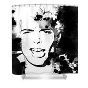 Billy Idol Splatter Shower Curtain