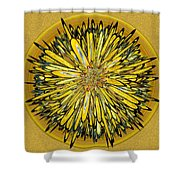 Billy Jean -- Floral Disk Shower Curtain