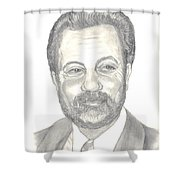 Billy Joel Portrait Shower Curtain