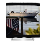 Billy's Boat Shower Curtain