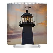 Biloxi Lighthouse At Sunset Photograph By Ron Buskirk