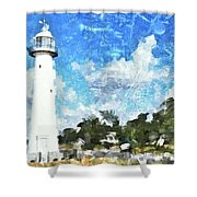 Biloxi Lighthouse Shower Curtain
