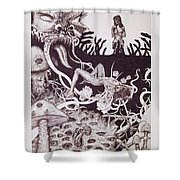 Binah Qlippoth Shower Curtain