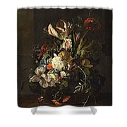 Bindweed And Chrysanthemums Shower Curtain