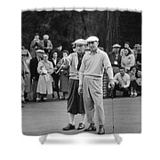 Bing Crosby And Ben Hogan Shower Curtain