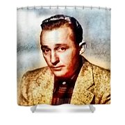 Bing Crosby, Hollywood Legend By John Springfield Shower Curtain