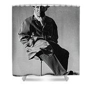 Bing Crosby Pebble Beach Bw Shower Curtain