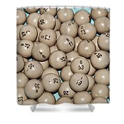 Bingo Balls Shower Curtain