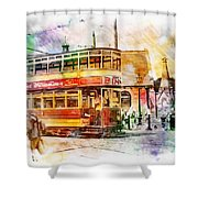 Binns Tram 2 Shower Curtain