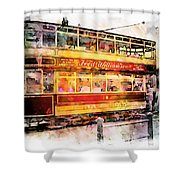 Binns Tram 8 Shower Curtain