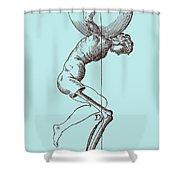 Biomechanics Shower Curtain