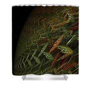 Biosphere Threatened Shower Curtain