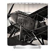 Biplane Shower Curtain by Carlos Caetano
