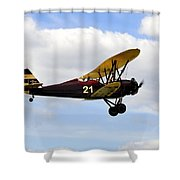 Biplane Shower Curtain