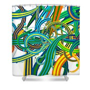 Bipolar Mania Rollercoaster Abstract Shower Curtain