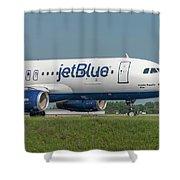 Bippity Boppity Blue Shower Curtain