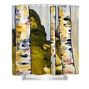 Birch 1 Shower Curtain