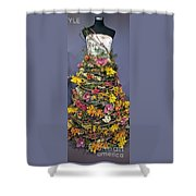 Birch And Orchid Twig Dress Exhibit Piece Shower Curtain