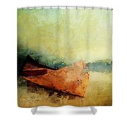 Birch Bark Canoe At Rest Shower Curtain