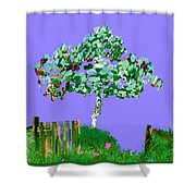 Birch Beach Michigan Shower Curtain