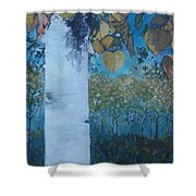 bIrCh LanE Shower Curtain