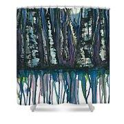 Birch Trees #4 Shower Curtain