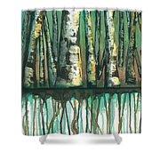 Birch Trees #5 Shower Curtain