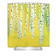 Birch Woods Shower Curtain