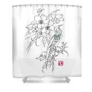 Bird And Flowers Shower Curtain