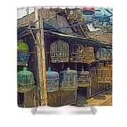 Bird Cages Vintage Photo Indonesia Shower Curtain