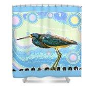 Bird Contemplates The Cosmos Shower Curtain