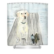 Bird Dog Shower Curtain