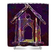 Bird Feeder Colorful Feeding Wood  Shower Curtain