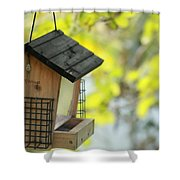 Bird Feeder Shower Curtain