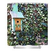 Bird Feeder In Ivy Shower Curtain