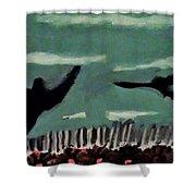 Bird Flock Shower Curtain