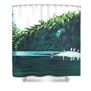 Bird Haven Shower Curtain
