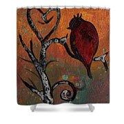 Bird I Wr Shower Curtain
